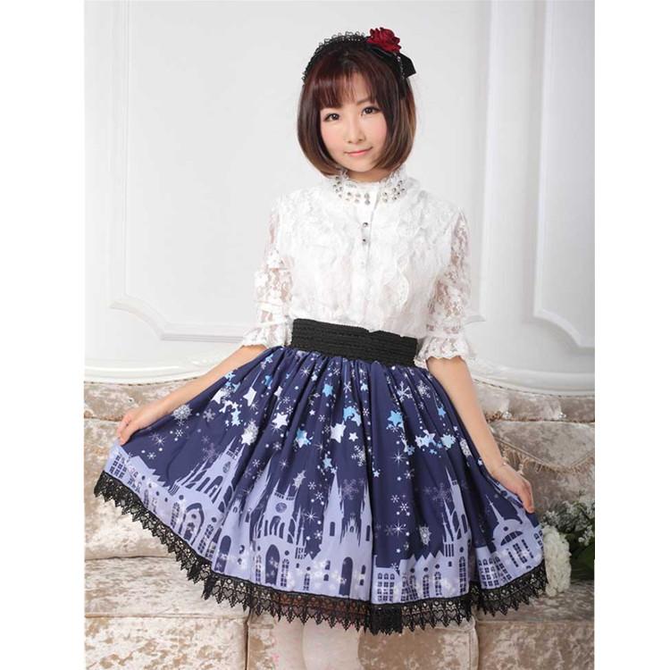ロリータ衣装専門店lolita Alice Gz116 春夏秋 星空と城 スカート